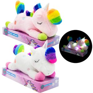 Unicornio de Peluche Con Luces 37cm