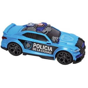 Auto Patrulla Policia de la Ciudad Acelera con Luces y Sonido 33cm