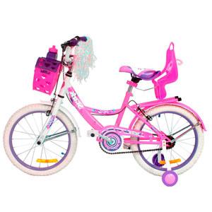 Bicicleta Stark Flowers Rodado 14 Nena Canasto