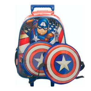 """Molchila Capitan America con Carrito 16"""" + Escudo"""
