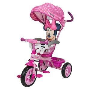 Triciclo de Lujo Disney Minnie 3 en 1 Con Caño de Bicicleta