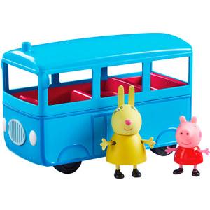 Peppa Pig Bus Escolar con Sonido+ 2 Personajes Original