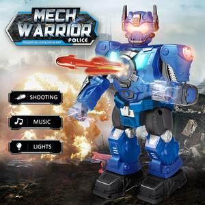 Robot Policial Mech Warrior a Radio Control con Luces, Sonido y Misiles