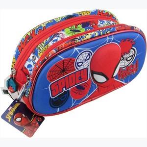 Cartuchera Spiderman 3D 2 Cierres Original