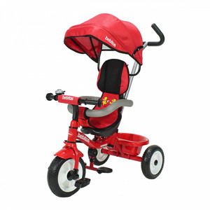 Triciclo 3 En 1 Gira 360 ° Super Reforzado Rojo