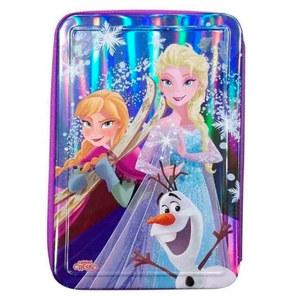 Cartuchera Metálica Frozen 2 Cierres Original