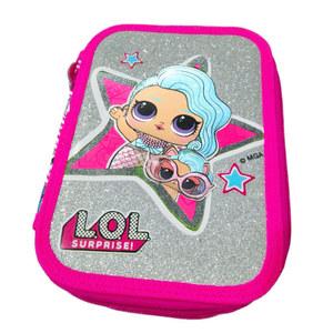 Cartuchera Lol Surprise Glitter 3 Cierres Original
