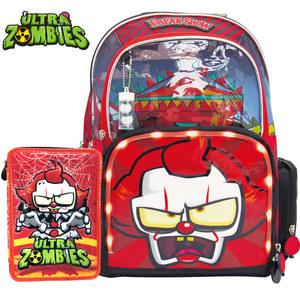 "Combo Ultra Zombies Mochila 16"" y Cartuchera Freak Show"