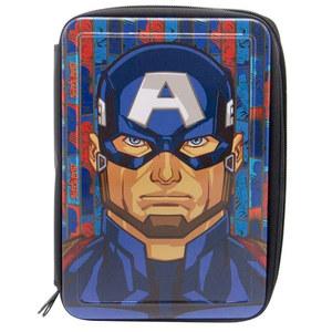 Cartuchera Capitan America 2 Cierres Original
