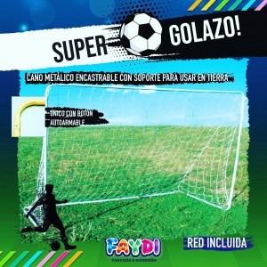 Arco de Futbol Caño 213x152x76 faydi