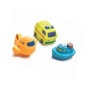 Juguetes para Baño Helicoptero Barco Camion X3 Playgro