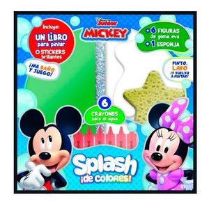 Set de Arte Mickey Pinto y Lavo Crayones +Goma Eva