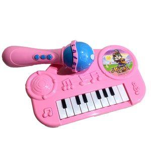 Piano Musical Niños con Microfono Luz y Sonido