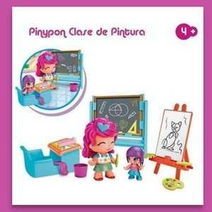 """""""Pinypon"""" Clase de pintura con 2 figuras y accesorios de escuela"""