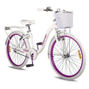 Bicicleta Rodado 24 Newton Fleur Canasto Guardabarros