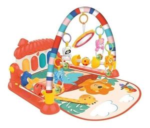 Ok Baby Gym Piano Alfombra Gimnasio Musical Luz Y Sonido