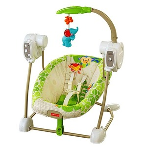 Columpio y Mecedora Musical 5 Vel Fisher Price Discover´n Grow Ahorra Espacio!