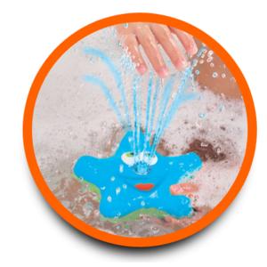 Estrella Giratoria y Luminosa Fuente de Agua para el Baño