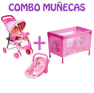 Combo para Muñecas Cochecito + Huevito + Practicuna