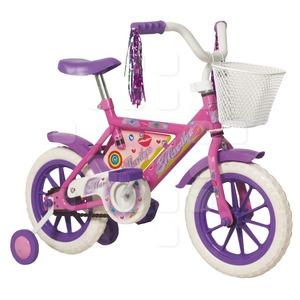 Bicicleta Infantil Rod 12 Stark Nena con Canasto y Flecos