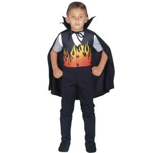 Halloween Disfraz Vampiro de Fuego Chaleco + Capa + Pantalon