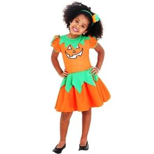 Halloween Disfraz Brujita Calabaza Vestido + Vincha