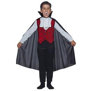 Halloween Disfraz Conde Drácula Traje + Capa + Dientes