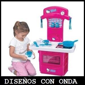 Hello Kitty Mi Primer Cocina Electronica C/ Luz Y Sonido