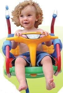 Hamaca para bebes y niños con cadena cubierta