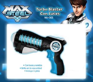 Pistola Mega Turbo Blaster Con Luces Max Steel