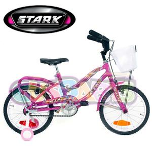 Bicicleta Playera Full De Nena Rodado 20 Stark