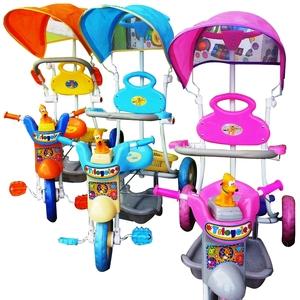 Triciclo Infantil Musical Pluto o Gatito Manija Direccional Capota