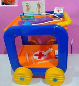 Carrito con Ruedas Set De Medicina para Jugar al Doctor Newplast