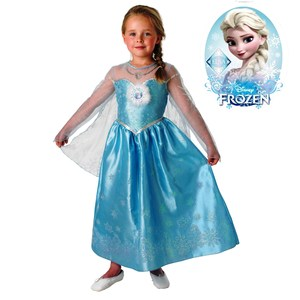 Disfraz Premium Elsa Frozen con Brillos y Bordado