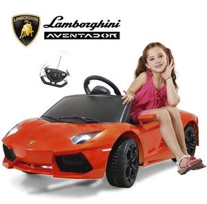 Lamborghini Aventador Naranja a Bateria con Control Remoto y Mp3