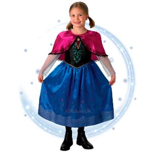 Disfraz Premium Anna Frozen con Brillos y Bordado