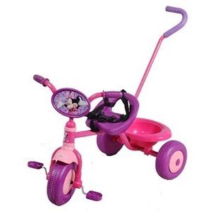 Triciclo con Manija de Translado Desmontable Minnie Ruedas Super Anchas