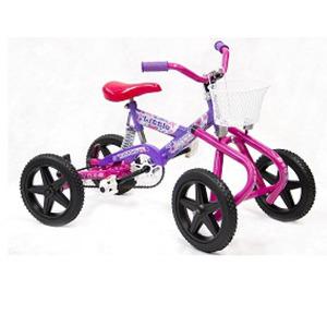 Cuatriciclo infantil a pedal Antivuelco con ruedas de goma