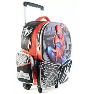 Mochila 3D Spiderman Original Marvel Con Carro Jardin 12 P