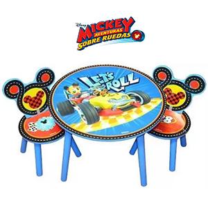 Juego De Mesa Y Sillas Infantil Nene Disney Mickey