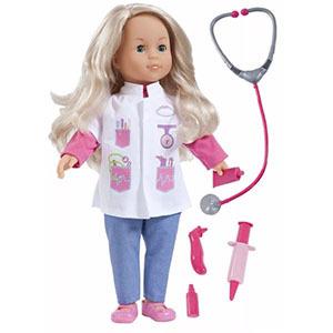 Muñeca Charlene Doctora + 50 Frases + Accesorios - 40cm