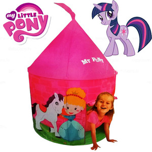 Casita Carpa Mi Castillo Pony Infantil 105 x 105 x 125 cm