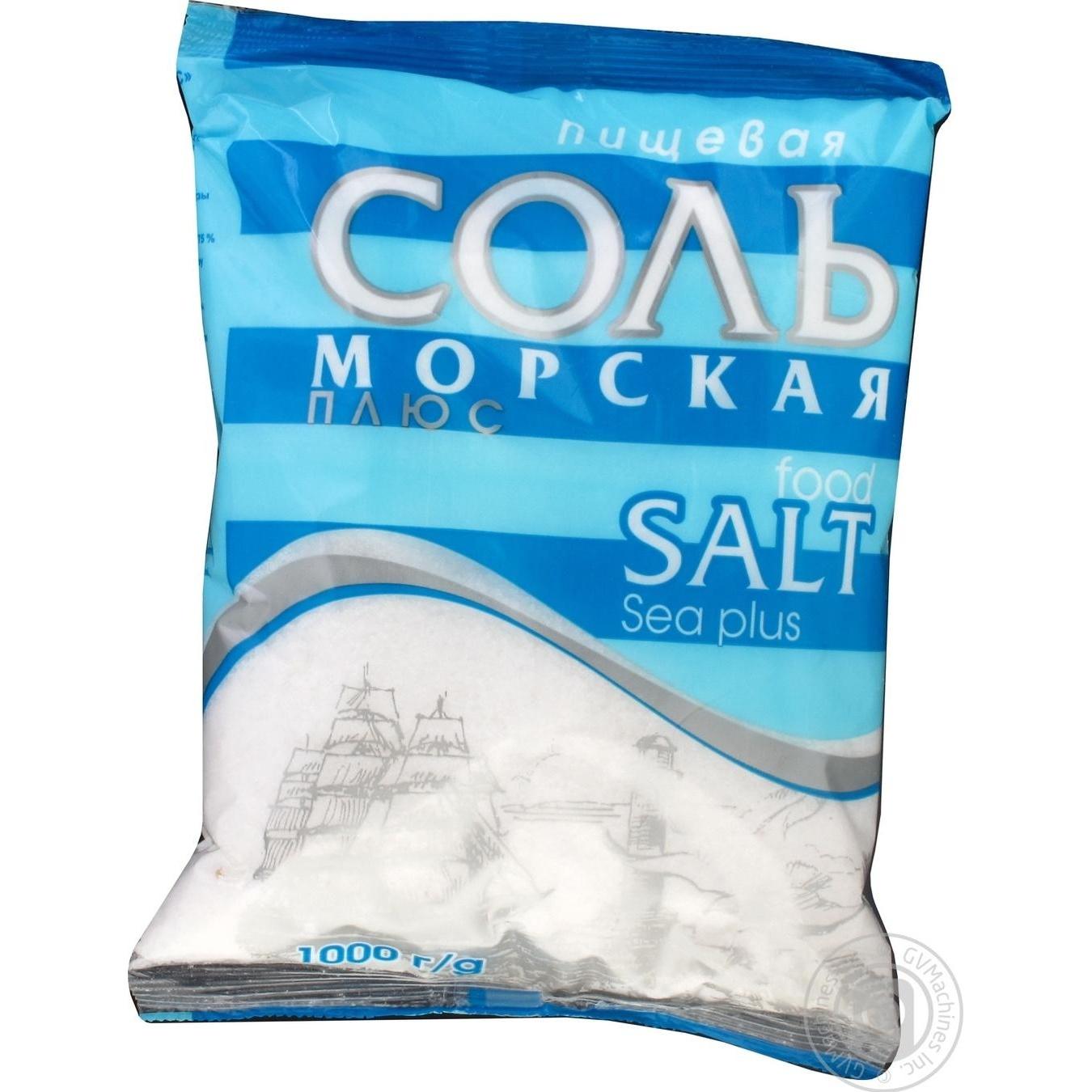 Купить Сіль Мозирсіль Полісся харчова морська плюс 1 кг