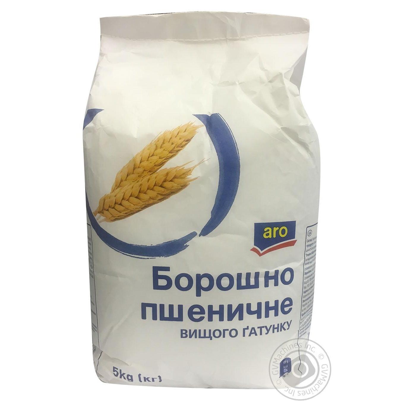 Купить Мука Aro пшеничная высшего сорта 5кг