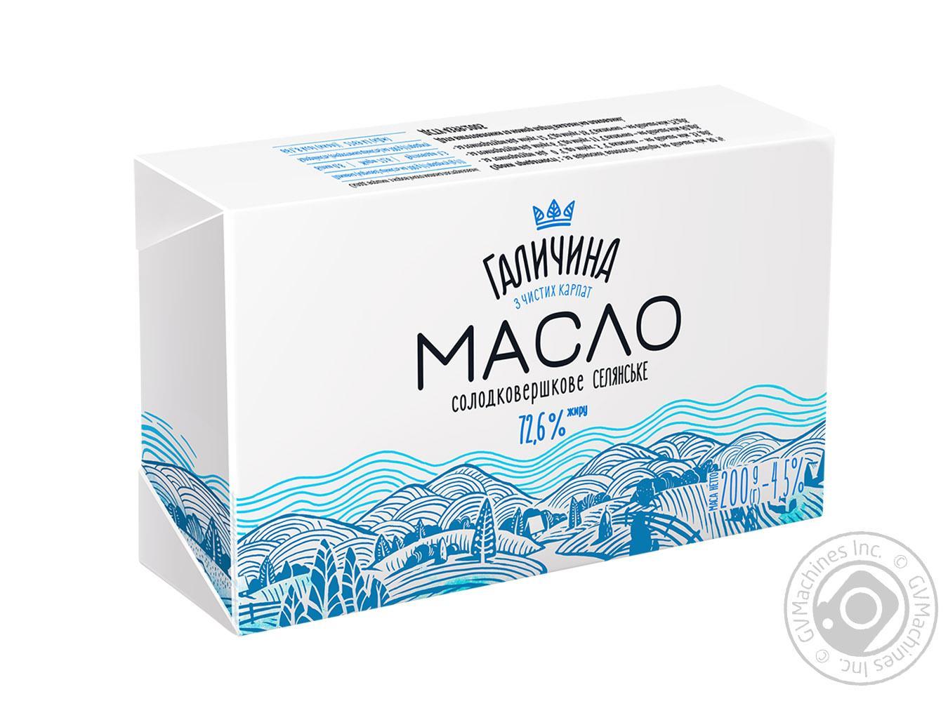 Купить Масло Галичина селянское сладкосливочное 72.6% 200г