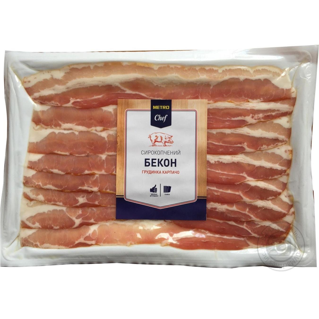 Купить Бекон METRO Chef сырокопченый грудинка карпаччо 450г