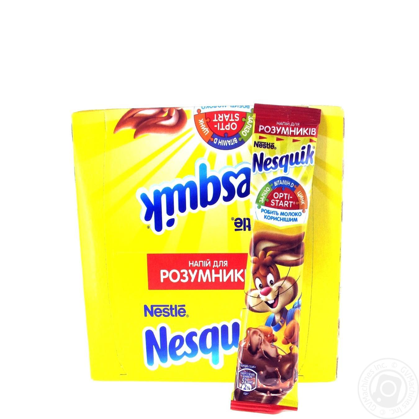 Купить Какао напої і шоколад, Напій з какао Nesquik Opti-Start швидкорозчинний в стіках 28*13, 85г