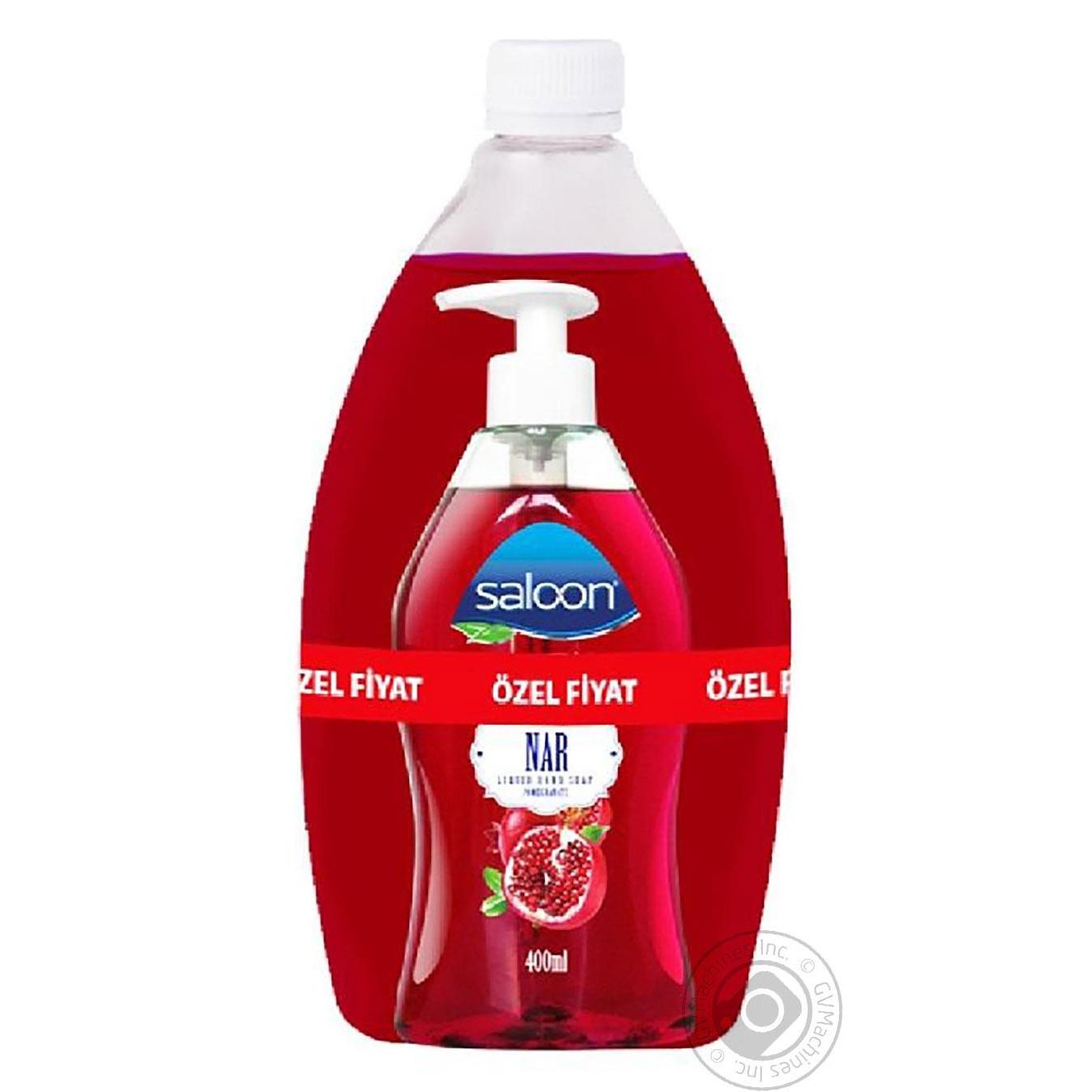 Купить Мыло жидкое Saloon Гранат 400+750мл