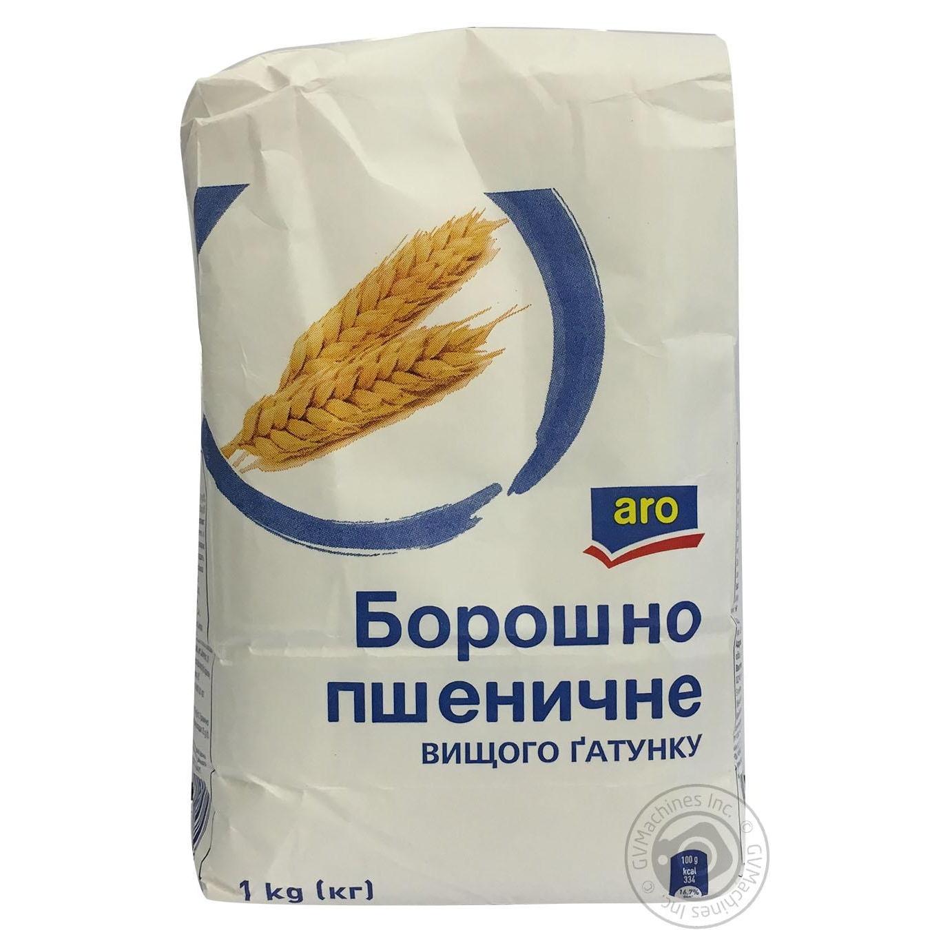 Купить Мука Aro пшеничная высшего сорта 1кг