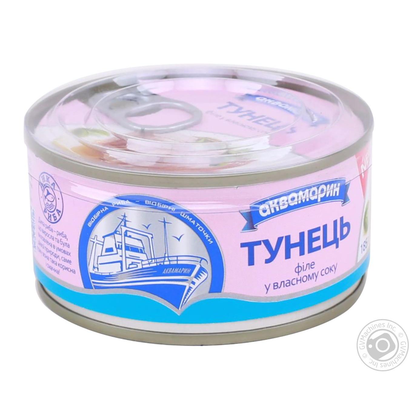Купить АКВА ТУНЕЦЬ ФІЛЕ В/С, 185 Г